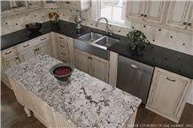 Snow Fall Granite Kitchen Perimeter Counter Top, Island Counter Top
