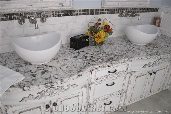 Snow Fall Granite Kitchen Perimeter Counter Top Island