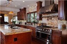 Copper Canyon Granite Kitchen Counters Full Backsplash