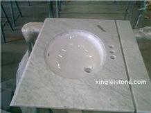 Carrara White Marble Vanity Tops,White Carrara Counter Tops/Slabs/Vantities, Bianco White Marble Tiles/Bath Tops, Nice White Marble Carrara