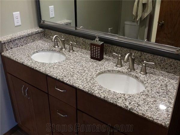 G439 Granite Kitchen Countertops/Tiles,Chinese Cheapest Grey/Gray Granite  Slabs/Bath Vanity/Tops, Big White Flower Granite, Popular Gray Granite Tile