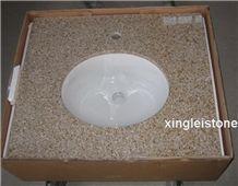 G682 Granite Countertop, Sunset Gold /Harvest Gold Granite Top, Shandong Rusty/Yellow Gold/Garnet Kitchen Countertop/Bath Vanity/Tiles/Slabs