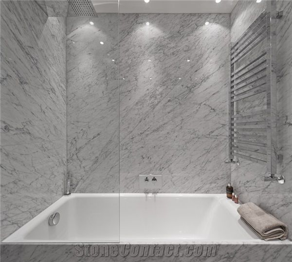 White Carrera Marble Bathroom Pictures: Italy Carrara White Marble Bathroom And Bath Top-Bianco