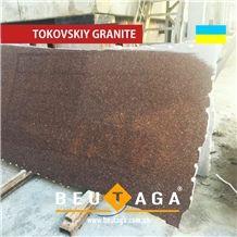 Carpazi Granite Slab Red (Thickness 20,30,40,50 mm Etc) - Ukraine Granite