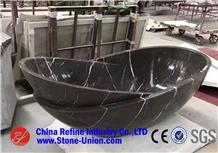 Black Marquina Natural Stone Bathtub,Solid Bathtub