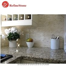 High Quality Brazil Cream Ivis Granite Countertops and Slabs,Factory Direct Baxi Grey Flower Granite Tops