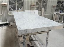 Bianco Carrara Gioia Venato White Marble Interior Stone Tabletops,Indoor Work Top Table Tops