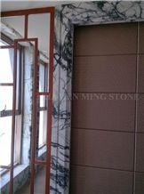 China Green Clivia Marble Interior Window Sills,Door Frames,Green Veins Thresholds,Window Surround,