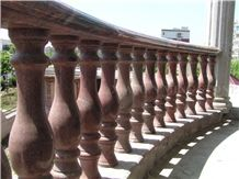 China Multicolor Juparana Red Spray Wave Granite Polished Balcony Balustrades,Handrail,Railings for Staircase