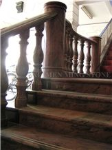 China Multicolor Juparana Red Spray Wave Granite Polished Home Stair Stepping,Interior Risers and Staircase