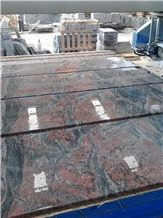 China Multicolor Juparana Red Spray Wave Granite Polished Slabs,Machine Cutting Tiles Panel for Wall Cladding,Interior Floor Covering,Skirting Tiles