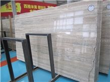 Imported Ocean Blue Silver Travertine Slabs Polished,Straight Vein Cutting Beige Panel Tiles for Walling,Floor Stepping Pattern for Hotel Lobby