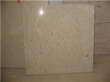 Sunta Mocca Novo Limestone Polished Tile,Machine Cutting Panel for Bathroom Walling,Floor Covering Beige Coral Stone