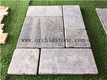 China Blue Limestone,Silver Valley Limestone,Honed &Tumbled Limestone Cubestone,Paving Stone,Cobble Stone for Flooring Wall Cladding,Cube Stone