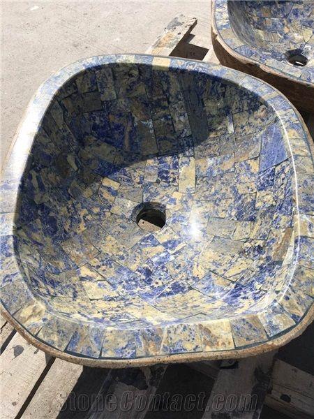 Bathroom Modern Designs Round Top Vanity Natural Stone ...