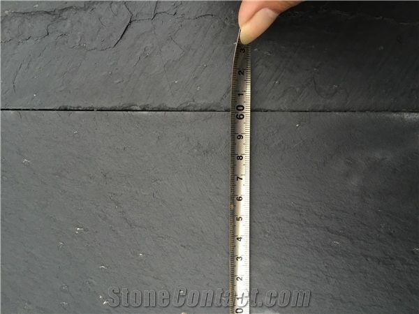 Natural Slate Floor Covering Black Stone Tiles For Construction