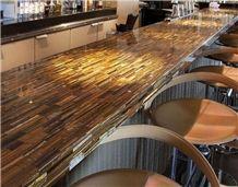 Semi Precious Stone Tiger Eye Bar Top for Bar Countertop