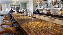 Tiger Eye Gold Semiprecious Stone Bar Countertop, Tiger Eye Stone Island Top for Commercial Bar Top