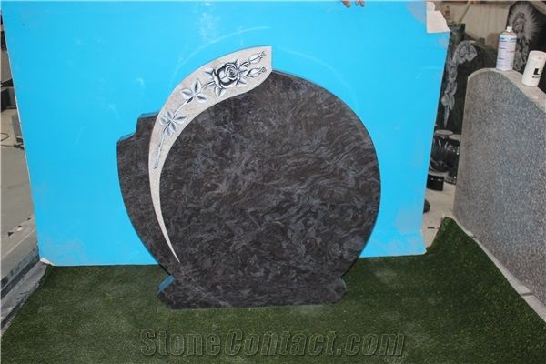 Bahama Blue Monument Orion Headstone Granit Tombstone Rose
