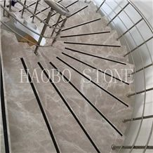 Best Price and Good Service High Quality Natural Stone China Manufacturer Polished Flash Grey Marble Tiles for Indoor Stairs from Haobo Stone Stone