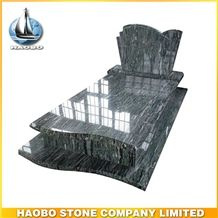 Polished Natural Stone China Quarry Manufactory Green Granite Western Style Monuments Tombstone,Gravestone,Simple Headstone