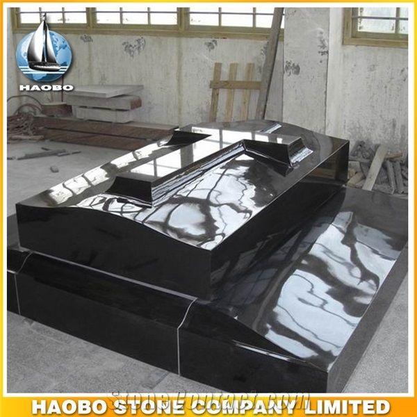 Polished Natural Stone Quarry Manufactory Black Noir