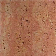 Pink Travertine Slab Tiles Iran