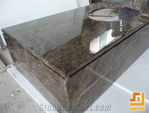 Chinese Polished Natural Irish Brown Marble,Dark Emperador Stone For  Countertops Be Used For Bar Top, Kitchen Island Worktop,Customize Size Desk  Tops