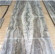 Iran Honed Silver Grey Travertine Tile,Persian Silver Gray Travertine Tile,Silver Travertine Slab,Iran Siena Silver Travertine Travertino Floor
