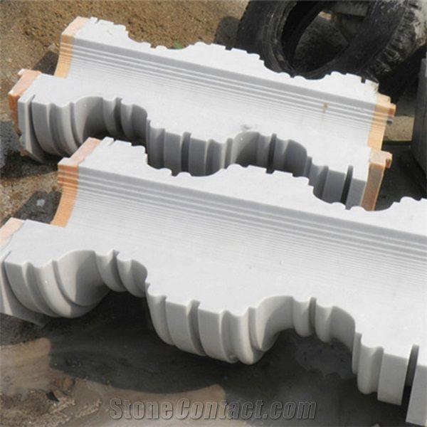 Polished White Marble Hollow Column White Marble Roman