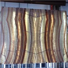 Translucent Multicolor Onyx,Wooden Onyx Slabs