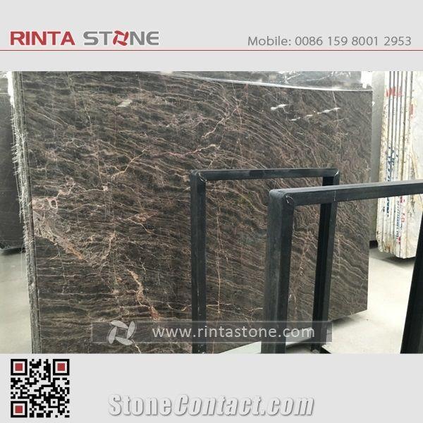 China Dark Brown Ouwang Marble Emperador Black Hubei Stone