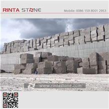 G664 Granite Luoyuan Red Cherry Brown Luna Pearl Stone Quarry Blocks