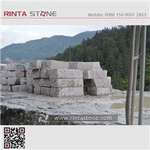G687 Peach Red Cherry Pink Granite Stone Quarry Blocks