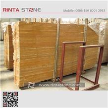 Yellow Travertine Afyon Gold Stone Iran Beige Big Slabs Wall Floor Thin Tiles Countertop Skiring Pattern
