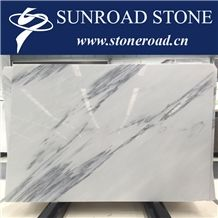 Calacatta Grey / Ink Wash White Marble Slabs & Tiles