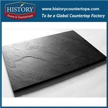 Historystone Square Shape Slate Plate Tiles Loading Dessert on the Table