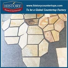 Historystone Used in the Environment Landscape Slate Flagstone Covering the Road