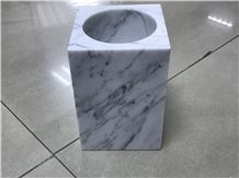 Carrara White Candle Holders/Chinese Carrara White Marble/Carrara White Candlestick