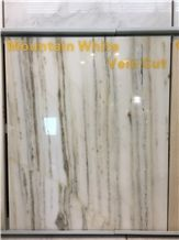 China Landscape/Mountain White Jade Marble, Vein Cut Slabs