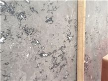 China Quintessence Wolf Cloudy Grey Small Flower Marble Slab