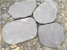 Chinese Natural Dark Grey Slate Tiles & Slabs, Out-Door Durable & Anti-Slip Flooring Stone, Courtyard Decoration/Building Stone/Garden Landscapes