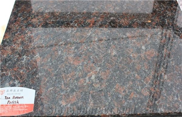 Indian Dark Tan Brown Granite Polished 2cm 3cm Slabs From China Stonecontact Com