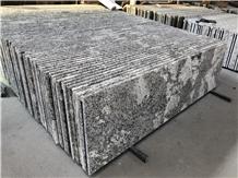 Brazil White Torronico Prefab Granite Countertops Laminated Flat Edge