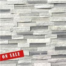 White Grey Marble Stacked Ledge Stone Veneer