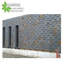 Cheap Andcut-To-Size Stone Form Natural Rusty Color Stone Roofing Slate,Slate Roof Covering, Roof Slate Stone Tiles