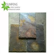 China Split Surface and Chiseling Edges Imperial Multicolor and Rusty Ash Slate Roofing