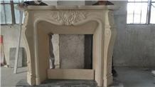 China High Quality Carved Indoor Decorative Marble Modern Fireplace