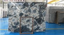 Chinese Fantasy Blue Marble, Blue Marble Tiles/Slabs, Silver Dark Blue Marble Countertops, Galaxy Blue Marble for Decoration, Skirting