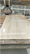 Turkish Vein Cut Beige Silver Travertine Stone Tile Lowes for Wall Tiles and Flooring Tiles